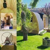 💥Nouveau 💥✨logement insolite dans notre jardin 🌳🏕☀️☘️ venez prendre l'air!!!!#podnordique #logementinsolite #soon #sun #garden #droledecabane #insolite